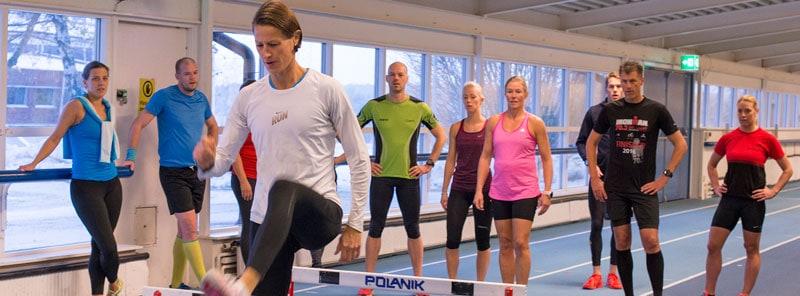 Undervisning med Malin Ewerlöf för våra PT-studenter