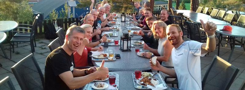 Middag på alla PT-studenter på Bosön
